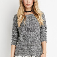 Scalloped Lace-Hem Sweater
