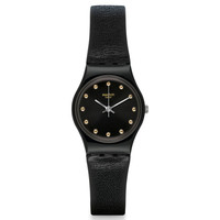 Swatch LB172 Women's Hora Negro Originals Black Dial Black Silicone Strap Watch
