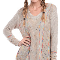 Winter Wanderer Pointelle V-Neck Pullover Sweater
