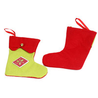 Color Block Bell Patched Christmas Stocking
