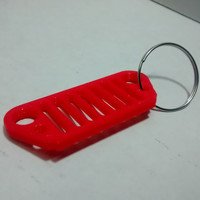 jeep key fob  Jeep keychain red