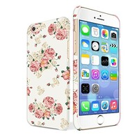 BeeShine Retail Package Soft Rubber Protective Skin Slim-Fit iPhone 6 Flexible TPU Gel Case Cover For Apple iPhone 6 4.7 inch + Screen Protector & Touch Stylus Pen (Pink Yellow Small Flower Florals)