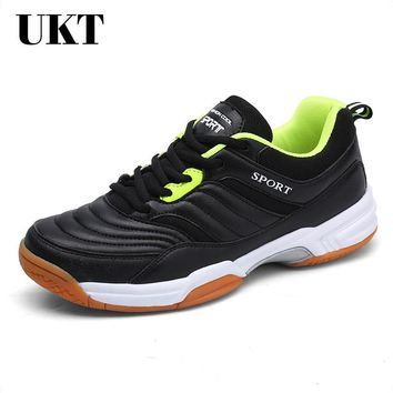 Hot Sale Light Badminton Shoes for Men Anti-Slippery Lace-Up Tennis Breathable Sneakers Hard-Wearing Sport Shoe Mens New
