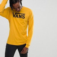 Vans Classic Long Sleeve Top In Yellow V00K6H2MR at asos.com