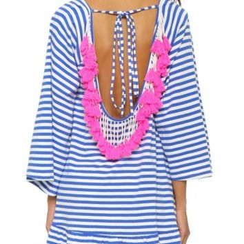 Indiana Stripe Short Beach Dress