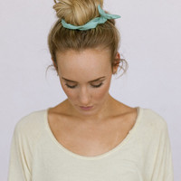 Fabric Bun Wraps MINT  Wired Hair Accessory for Buns or Pony Tails Braid Ins for Hair