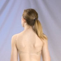 BASIC MOVES #4722 ADULT CLEAR BACK SEAMLESS BRA TOP