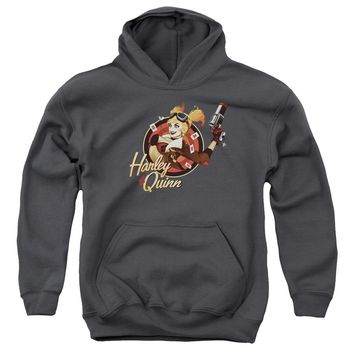 Jla - Harley Bomber Youth Pull Over Hoodie