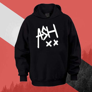 5SOS Ashton Irwin signature Hoodie Sweatshirt Sweater Shirt black white and beauty variant color Unisex size