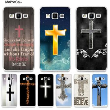 MaiYaCa Bible Jesus Christ Christian Cross Hard Back Phone Case for samsung A510 A3 A7 A8 A9 note 4 note5 case funda