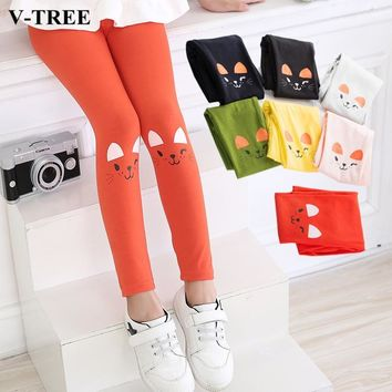 V-TREE Cartoon Girls Cotton Leggings