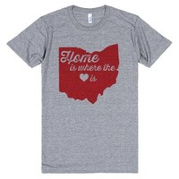 Home is Where the Heart is-Unisex Athletic Grey T-Shirt