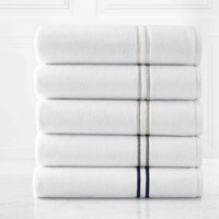 Carrara Embroidered Turkish Cotton Towels | Kassatex