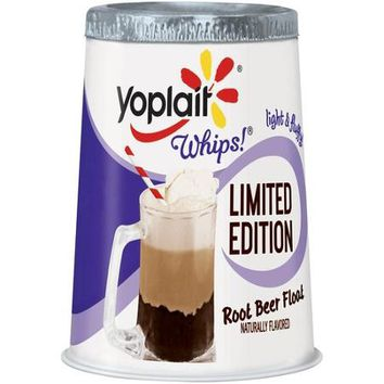 Yoplait Whips! Limited Edition Root Beer Float Flavored Lowfat Yogurt Mousse, 4 oz - Walmart.com