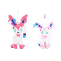 22cm Sylveon cute beautiful plush doll toy Eevee family member Hot Japanese Anime Action Figure Doll Toy soft stuffed doll toy