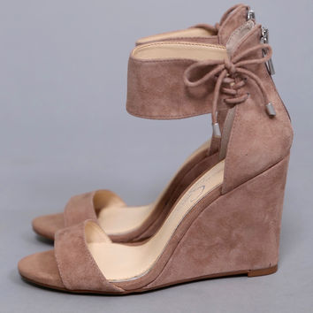 Breeley Wedge by Jessica Simpson {Taupe}