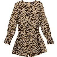 Leopard Woven Romper by Juicy Couture