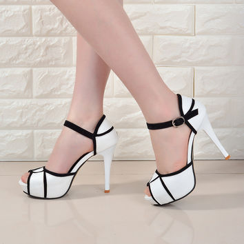 High Heel Cross Over Pumps