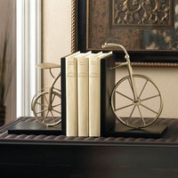 Charming Antique Bicycle Book Ends Library Decor