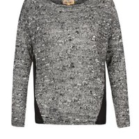 New Look Mobile | Grey Chiffon Panel Jumper