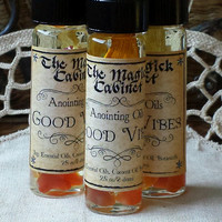 Perfume Oil, Good Vibes, Anointing Oil, Pagan, Wicca, Witchcraft Supply, Pagan Perfume Oil, Fragrance Oil, Anointing Oil, Aromatherapy