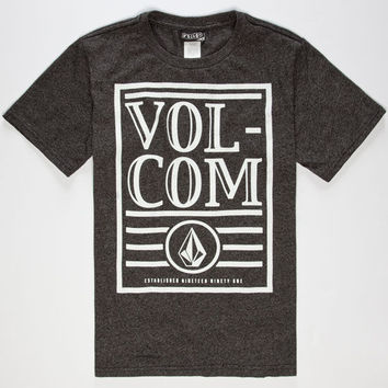 Volcom Statement Boys T-Shirt Heather Black  In Sizes