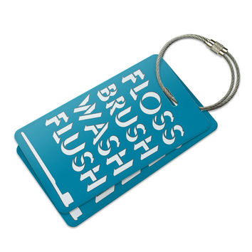 Floss Brush Wash Flush Luggage Tag Set