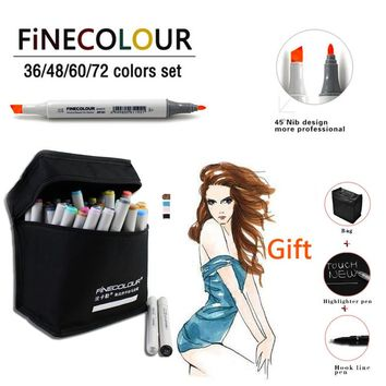 Professional Marker 160 Colors Optional Double Headed Sketch Marker Pen Set Painting Sketch Art Copic Marker Stationery Marker