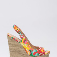 Day Date Jute Trim Wedges