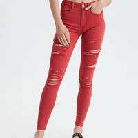 AE Ne(X)t Level Seamless Super High-Waisted Jegging, Washed Red