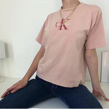 2018 NEW CALVIN KLEIN JEANS SMALL LOGO T SHIRT