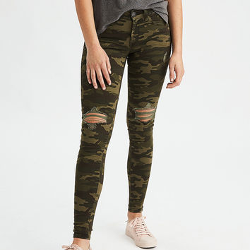 AEO Denim X Jegging, Camo Green