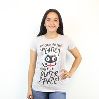 Steven Universe Cookie Cat From Outer Grey T-shirt