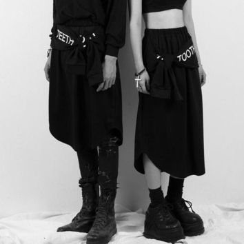 Japanese Black Punk Fake Two Hip-Hop Street Dance Performance Spring and Summer Skirts