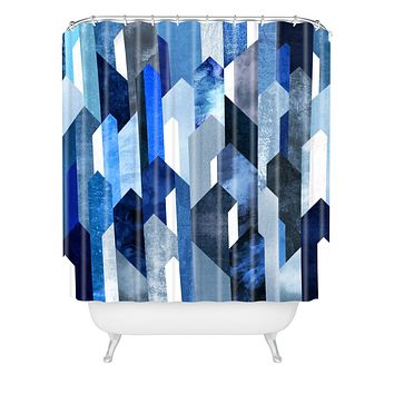 Elisabeth Fredriksson Crystallized Blue Shower Curtain
