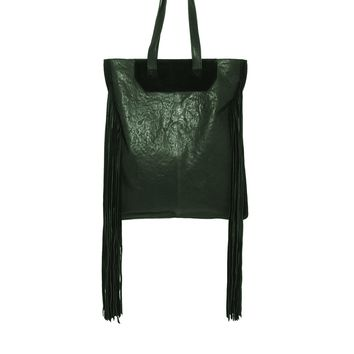 ASOS Leather Fringe Shopper Bag