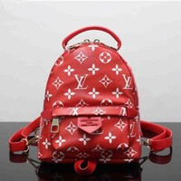 CUPCUPST Louis Vutitton×Supreme' Women Casual Fashion Personality Logo Letter Backpack Mini Double Shoulder Bag