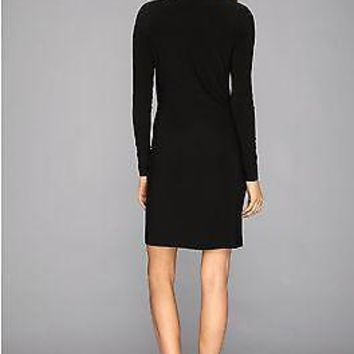 Norma Kamali Maternity L/S Side Draped Wrap Dress NK310603M