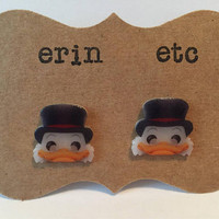 Handmade Plastic Fandom Earrings - Cartoon - Scrooge McDuck