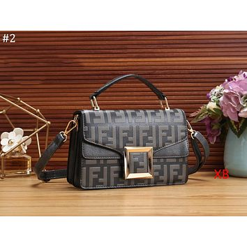FENDI 2018 new double F embossed letters women's fashion flip bag shoulder bag Messenger bag #2