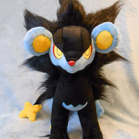 Pokemon inspired Luxray Rentorar large size plush (50x75 cm) plushie made of minky, very cuddly!