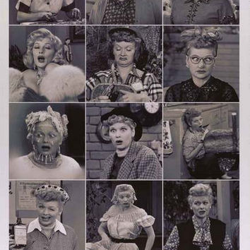 I Love Lucy Funny Faces Lucille Ball Poster 24x36