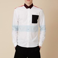 Raf Simons x Fred Perry Cut And Sew Shirt - MEN - JUST IN - Raf Simons x Fred Perry