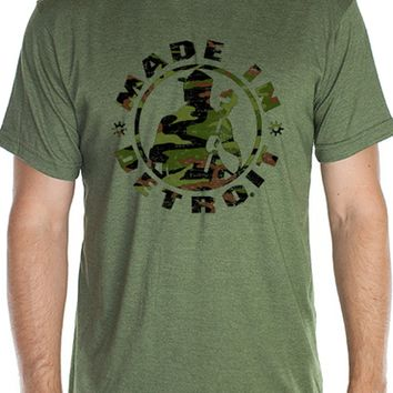 Made In Detroit MID Camo Logo Tee