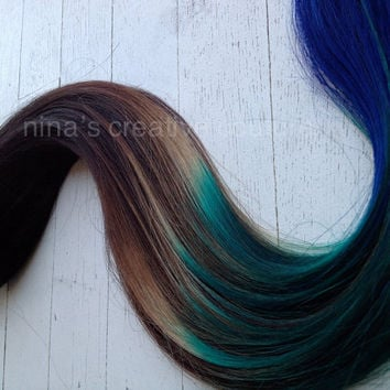 Best Blue Ombre On Brown Hair Products On Wanelo