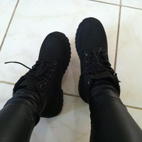Fashion Strappy Round Toe Martin Boots Shoes