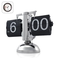 SODIAL® Retro Flip Down Clock - Internal Gear Operated
