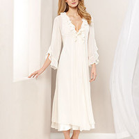 Flora by Flora Nikrooz Gown and Robe, Angel Chiffon Gown and Robe - Bridal Sleepwear - Women - Macy's