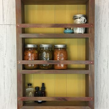 The Mansfield Cabinet - Poplar Edition - Spice Rack / Kitchen Shelves