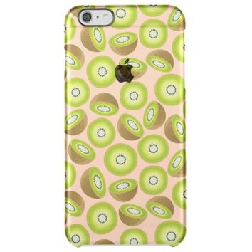 Cute Cut Kiwi Pattern Clear iPhone 6 Plus Case